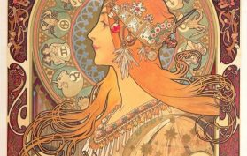 beautiful mucha painting