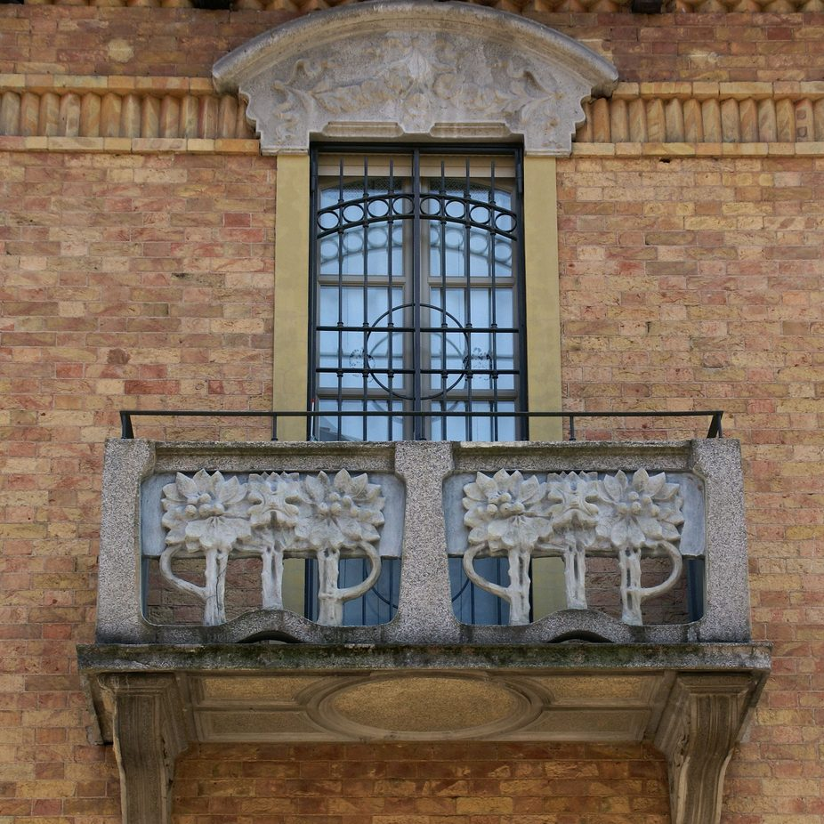 Art Nouveau and Liberty balcony in Turin