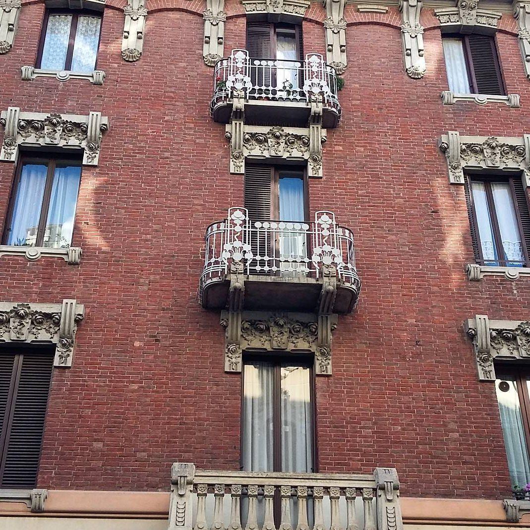 art nouveau liberty façade Turin