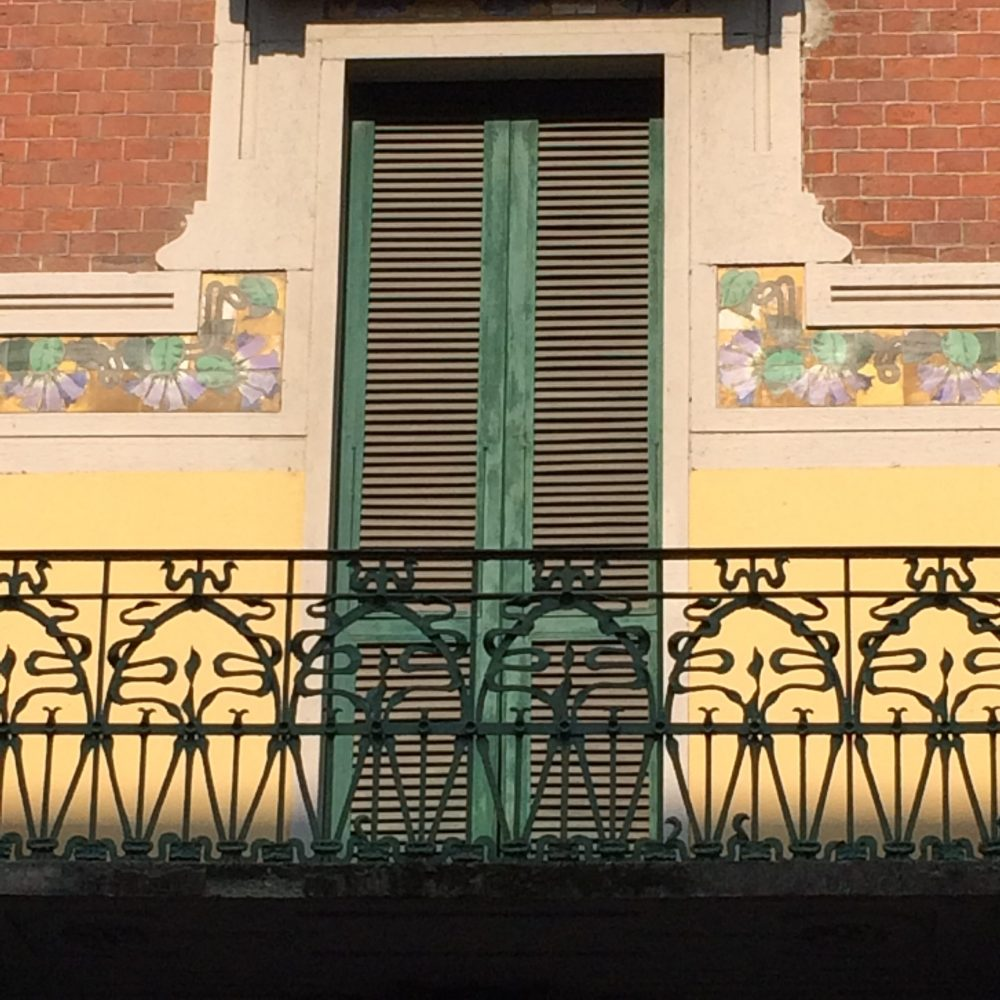 balcony tiles Liberty Style Private Tours Milan
