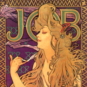 Poster for 'Job' cigarette paper (1896)