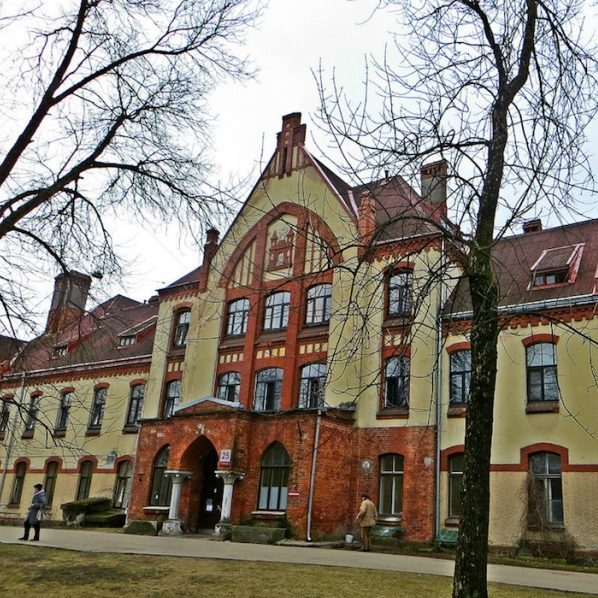 Hospital in the other side of the Daugava river - Riga Art Nouveau Private Tours
