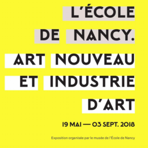 This poster illustrates the exhibition that takes place in Nancy